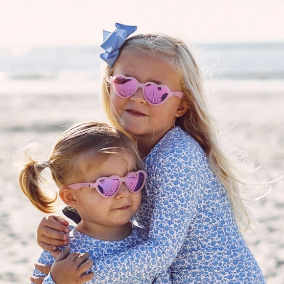Babiators The Influencer - Heartshaped Polarized Sunglasses with Mirrored Lenses