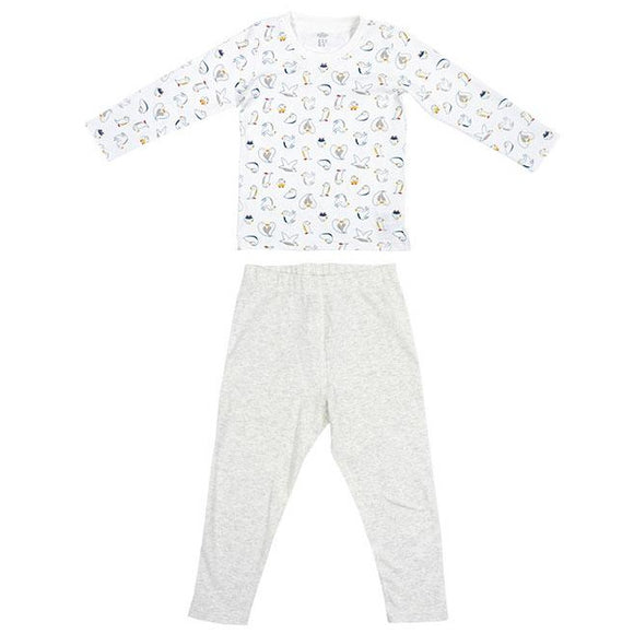 Nest Organic Cotton Two-Piece PJ Set - Pacific Puffin