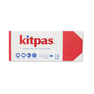 Kitpas Art Crayons Medium 16 Colors