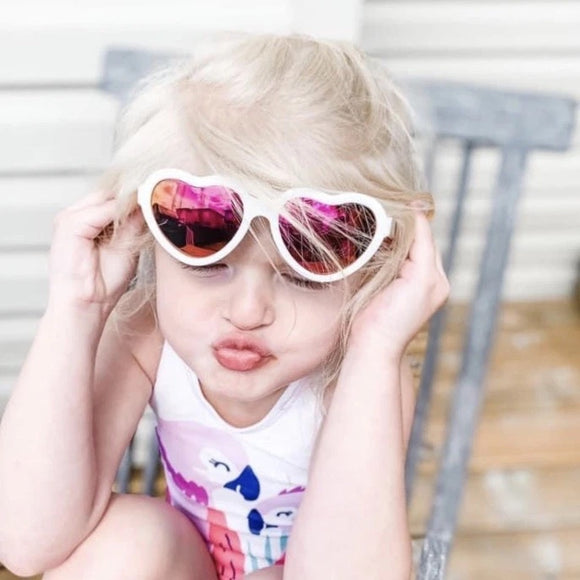Babiators The Sweetheart Heart Polarized Sunglasses with Mirrored Lens