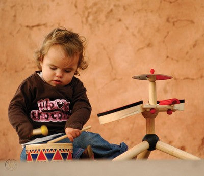 Plan Toys 6404 Solid Drum 18M+