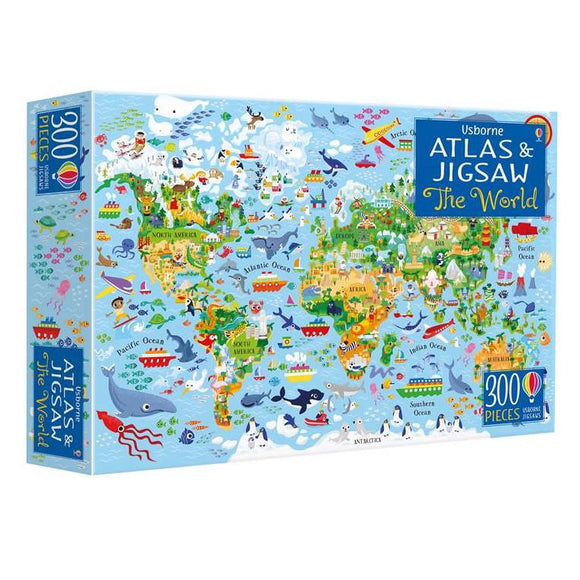 Usborne The World - Atlas & Jigsaw Puzzle 8Y+