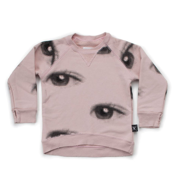 Nununu Eye Sweatshirt Powder Pink NU4563