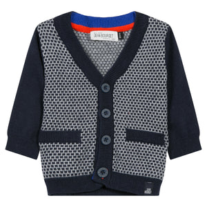 Jean Bourget Boys Fleece Cardigan Sweate Marine Navy JK18004