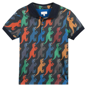 Paul Smith Boys Pegasus Dinosaur Print Polo Shirt  5K11522-49