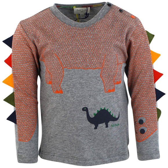 Paul Smith baby boys grey Pekin t shirt 5K10601-294