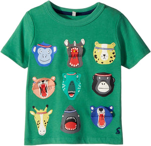 JOULES Boys Chomper Interactive T-Shirt ANIMALS