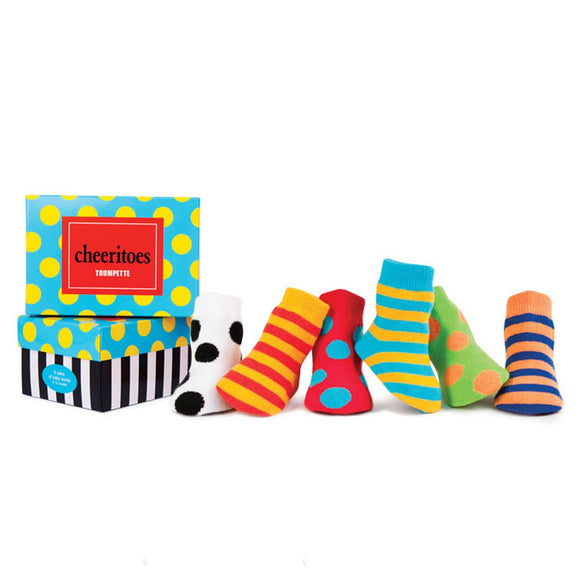 TRUMPETTE Cheeritoes Socks Pack of 6, 0-12M