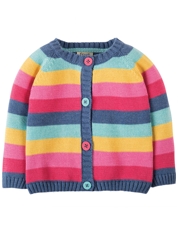 Frugi KWA703PRS-LITTLE HAPPY DAY CARDIGAN