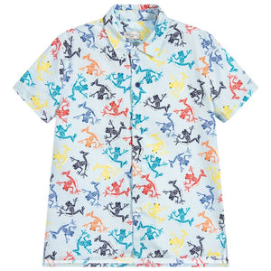 Paul Smith KID BOY Frogs Print Shirt 5L12512 - 440