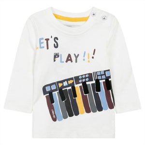 Jean Bourget JK10034-Let's Play Graphic T-Shirt in White
