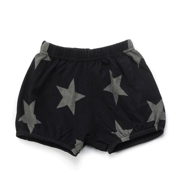Nununu NU3481 Black STAR Yoga Shorts