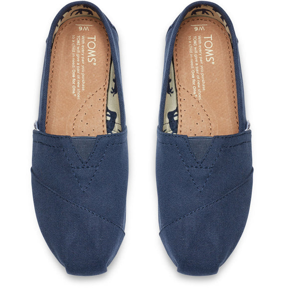 '-TOMS Women's Canvas Navy Slip On Shoes