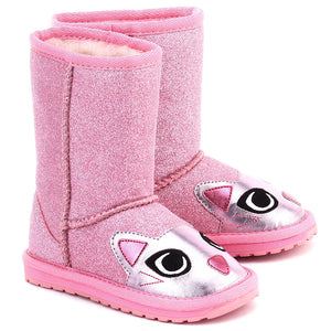 xEMU AUSTRALIA Kids Winter Boots Little Creature in Pink Cat