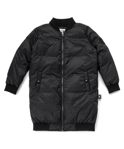 Nununu NU2006B Down Bomber Coat - Black