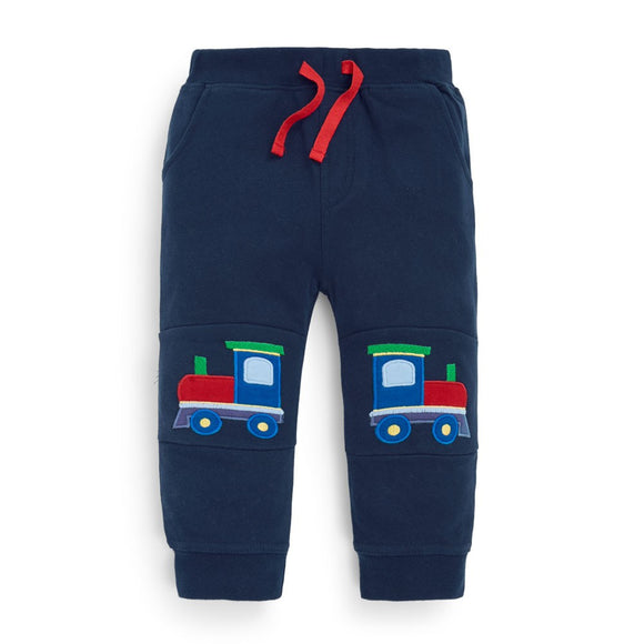 Jojo Maman Bebe - E1737 -  Train Knee Joggers Navy