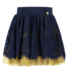 Angel's Face - Serena Skirt Navy With Dijon Green