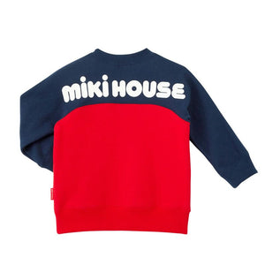 xMiki House - 13-5601-613-42 SWEAT SHIRT RED&NAVY
