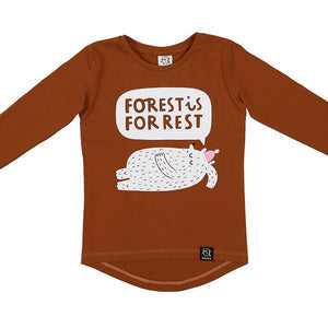 Kukukid Caramel Forest is for Rest Sweatshirt