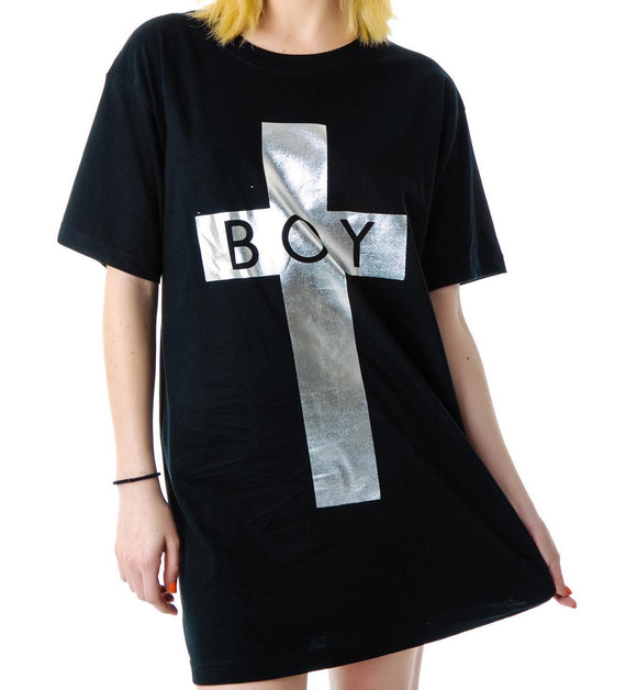 BOY LONDON Boy Cross Oversized Tee DFS1014