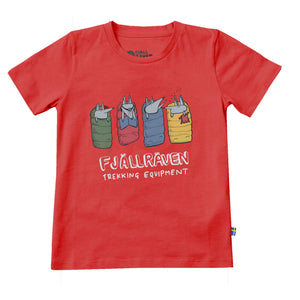 Fjallraven Kids Sleeping Foxes T-Shirt F82427 Red 320