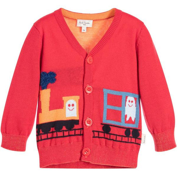 Paul Smith 'PAX' CARDIGAN WINTER RED 5K18511 362