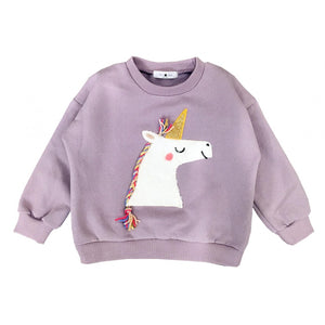 Petite Hailey Unicorn Sweatshirts in Lavender