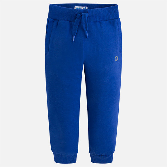 mayoral - 742 Basic cuffed fleece trousers Royal blue