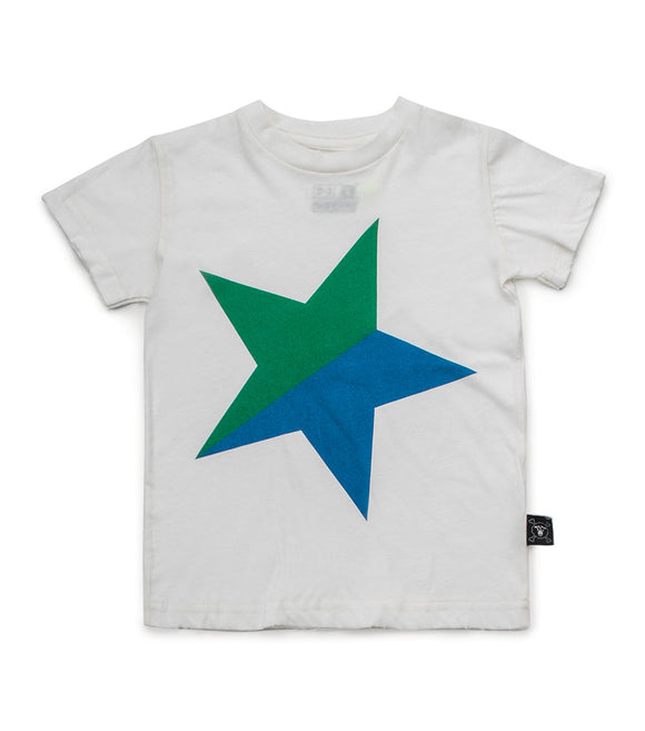 Nununu NU2105 Colorful STAR T-shirt-White/Green