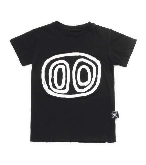 Nununu NU2713 Tribal Eyes T-shirt in Black