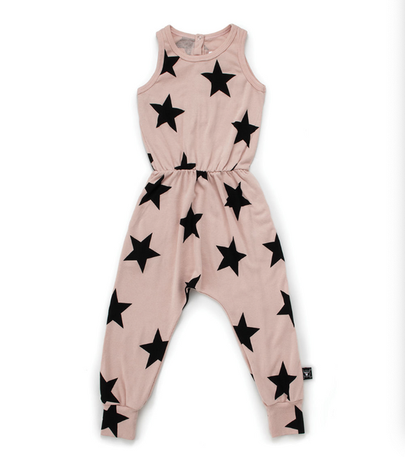 Nununu NU2754 STAR Romper Powder Pink