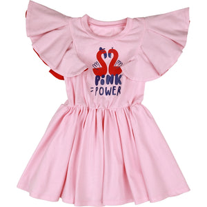 Kukukid - Pompon Dress-Pink Power