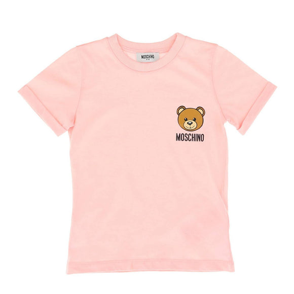 Moschino - Kids T-shirt With Toy Bear Logo Pink