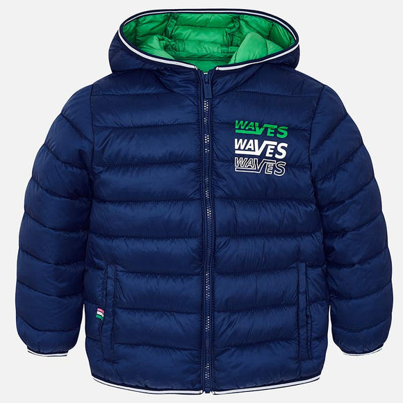 mayoral - 3436 Padded Coat Steel Blue
