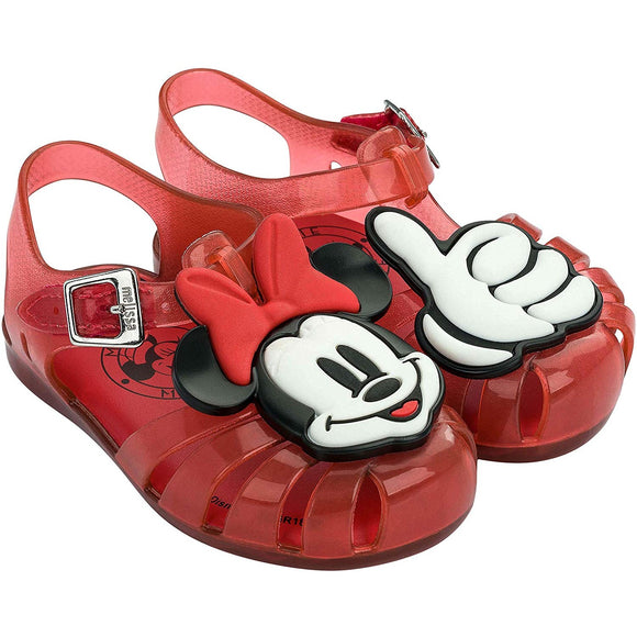Mini Melissa Aranha + Mickey And Friends in Red Jelly 32499-53424