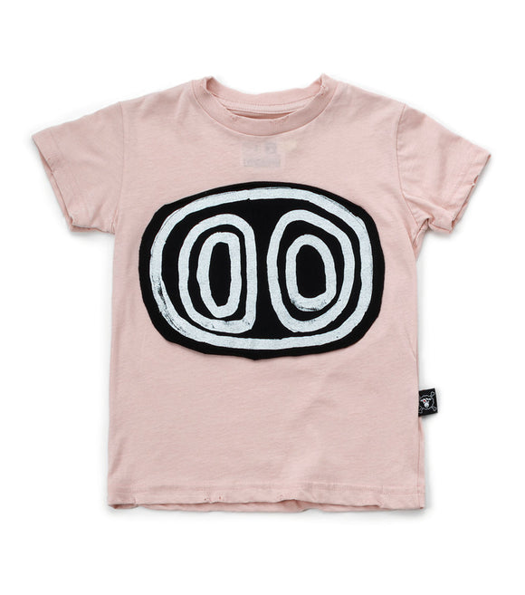 Nununu NU2303 Tribal Eyes T-shirt in Powder Pink
