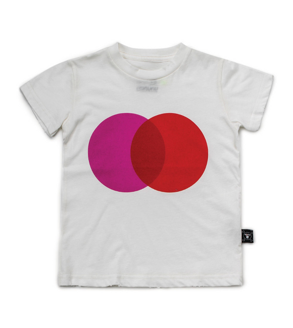 Nununu Nu2106 Colorful Circle T-shirt White/Red