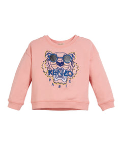 Kenzo Tiger JG 7 Sweat Shirt  Middle Pink KN15108
