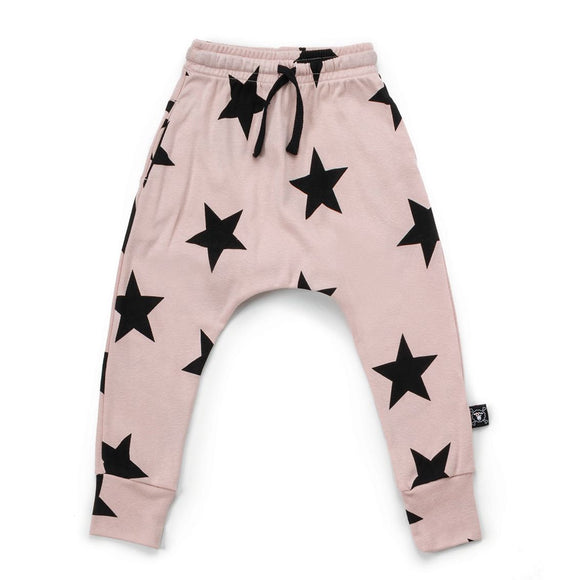Nununu NU1822 STAR Baggy Pants in Powder Pink