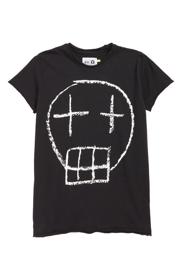 Nununu NU2164 Sketch Skull T-shirt Black