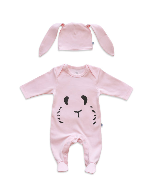 Petit Patch Hoppy Bunny in Pale Rose