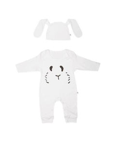 Petit Patch Hoppy Bunny in Sugar White