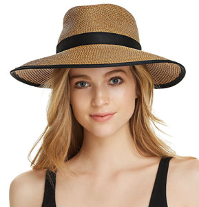 Sun Crest 13820 Natural/Black Sun Hat