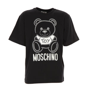 Moschino Short Sleeve Toy Bear T-Shirt in Black HQM029 60100