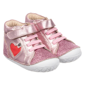 Old Soles #4035 My-Heart Pave  Glam Pink / Bright Red