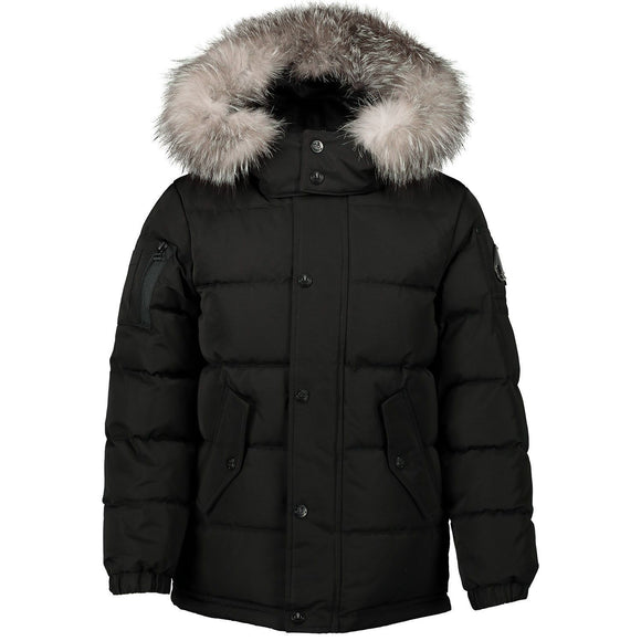 Moose Knuckles Kids Midcore Jacket in Black w/ Frost Fox