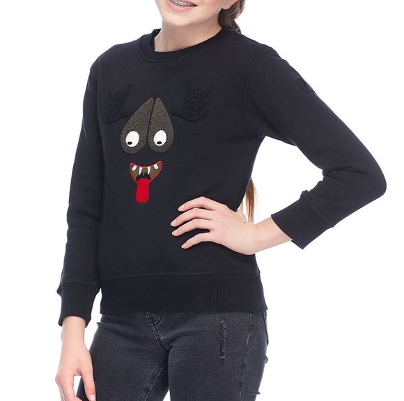 Moose Knuckles Kids Mascot Sweatshirt in Black