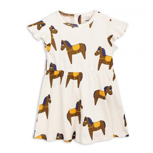 Mini Rodini Horse Dress Yellow 1825012523