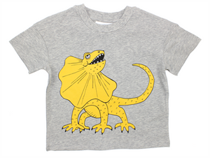 Mini Rodini-Draco sp ss tee-grey melange-1822018694