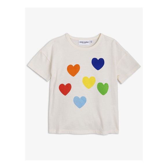Mini Rodini Rainbow Love SP SS Tee 1862011511